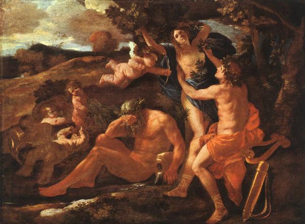 阿波羅與達芙妮Apollo and Daphne_ 普桑Nicolas Poussin - .jpg