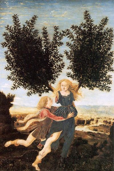 阿波羅與達芙妮 Apollo and daphne _波拉幼奧洛Piero Pollaiuolo.jpg