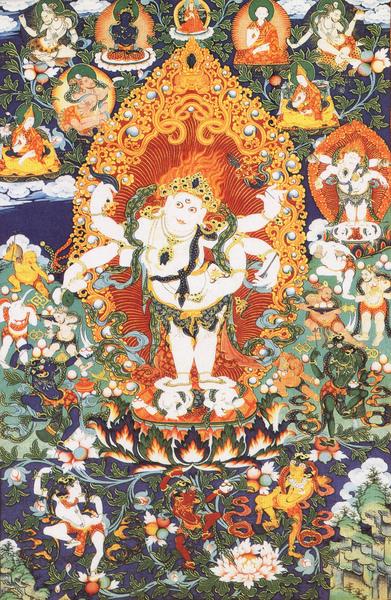 藏傳佛教 六臂白瑪哈嘎拉財神(Mahahala).jpg