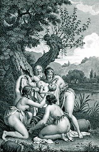 阿多尼斯的出生 Birth of Adonis. Drawing_尼古拉‧安卓Nicolas-André Monsiau.jpg