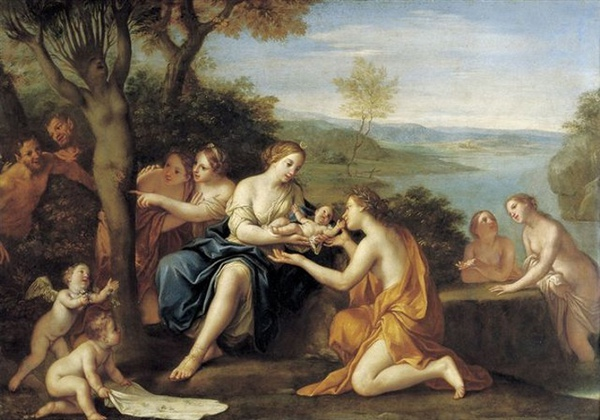 阿多尼斯的誕生 Birth of Adonis_ 法蘭契斯基尼 Franceschini, Marcantonio.jpg