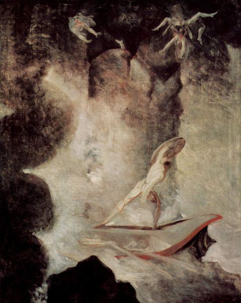 通過斯庫拉和卡律布狄斯漩渦Odysseus in front of Scylla and Charybdis_約翰‧亨利希‧菲斯利 Johann Heinrich Füssli.jpg