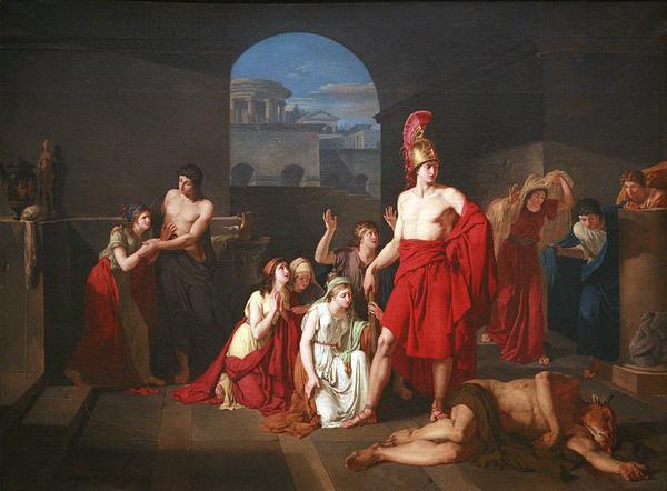 忒修斯的勝利 Theseus victor of the Minotaur _拉馬 Rama.jpg
