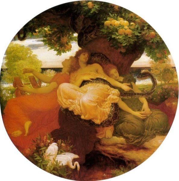 海絲佩莉蒂姊妹的花園The Garden of the Hesperides _弗雷德里克‧雷頓 Lord Frederic Leighton.jpg