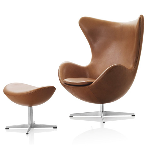 Arne-Jacobsen-Egg-Chair-and-Stool