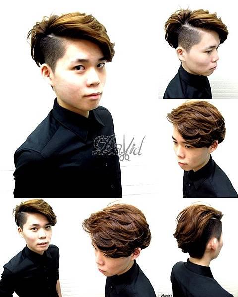 男生剪髮造型 局部燙捲