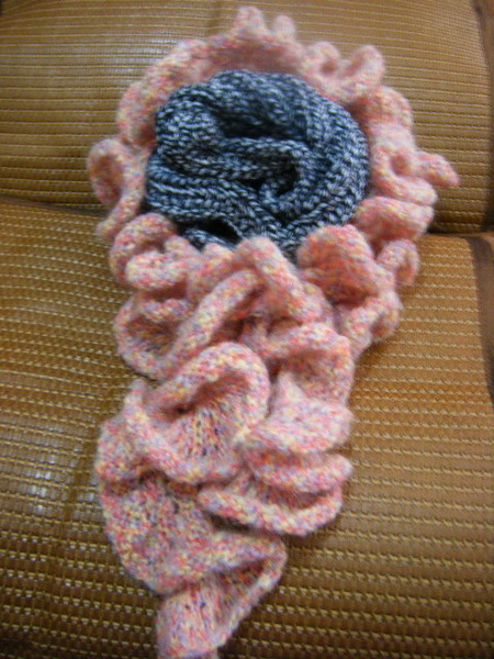 圈圈花圍巾(單線)