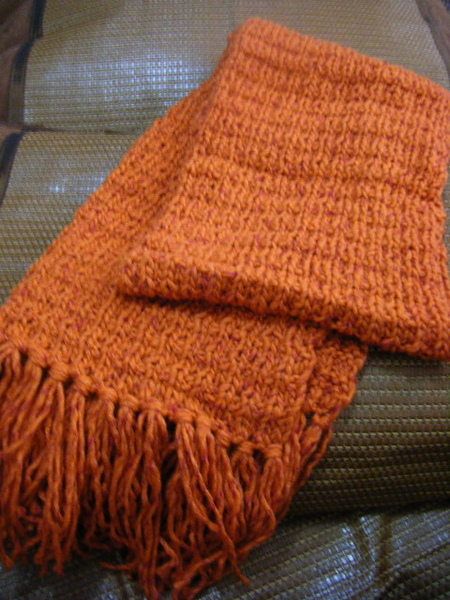 上下變化寬版圍巾