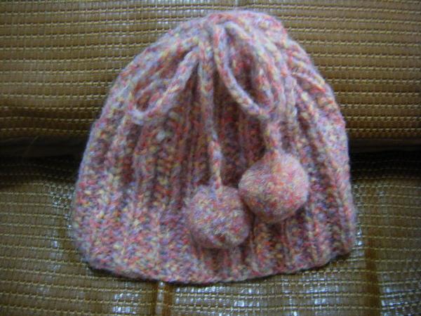 小毛球帽子頸圍兩用款