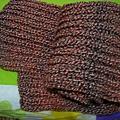 紅色元寶針圍巾