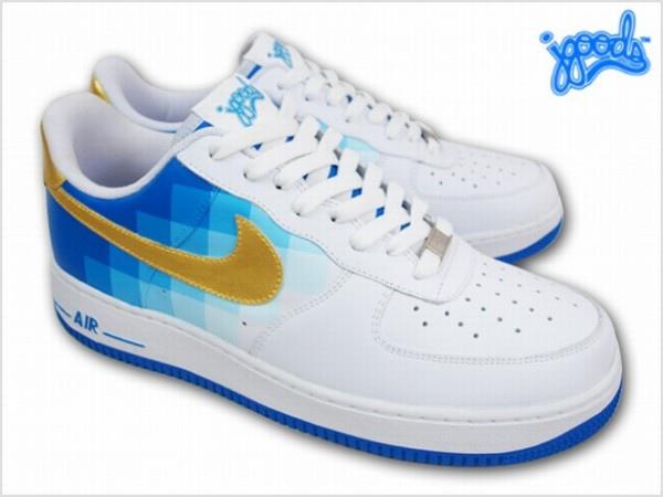 Nike Air Force 1 Pixel Fade Customs by JGoods 01.jpg
