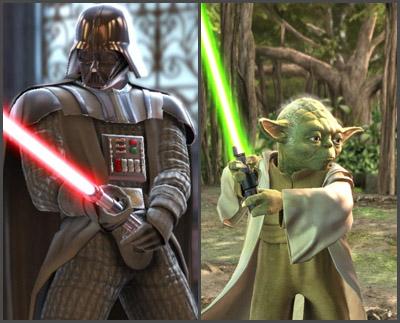 Darth Vader & Yoda in Soulcalibur IV