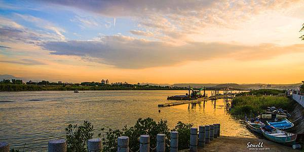 河雙公園夕照