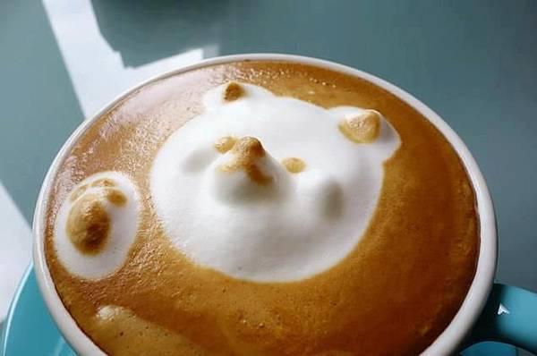 3D立體熊熊拉花咖啡