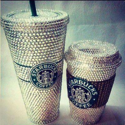 水鑽星巴克咖啡杯