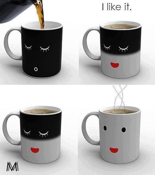 倒了咖啡就心情變好的杯子
