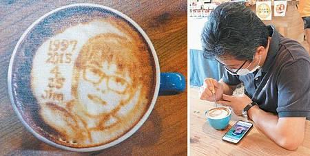 1年2000杯 他用咖啡奶泡畫客人面容