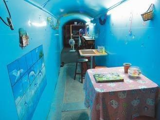 基隆防空洞咖啡店 喝咖啡聊戰爭