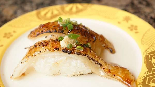 炙比目魚鰭邊握壽司