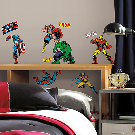 marvel wall decals