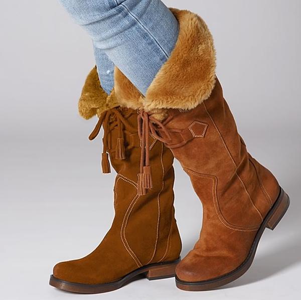 女生麂皮靴 =$29.72