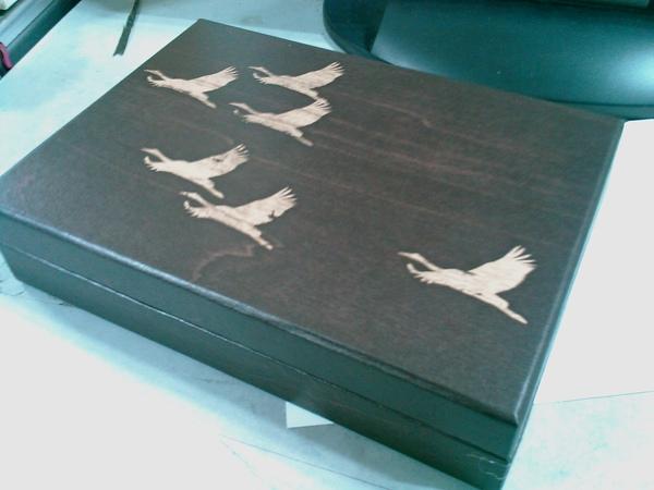 偽木盒,其實是紙盒