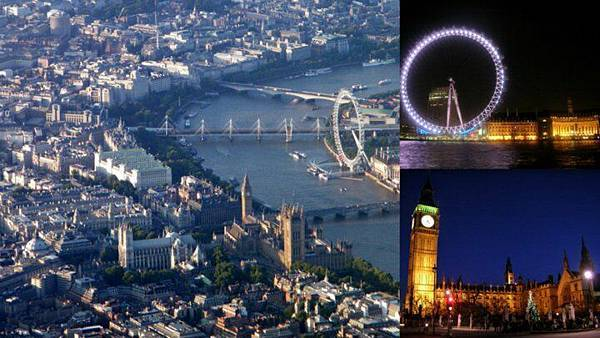 倫敦 London 泰晤士河/倫敦眼/大笨鐘