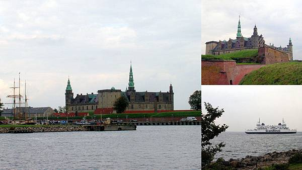 Kronborg Slot 從 Helsingør 前往哈姆雷特的場景(世界遺產)