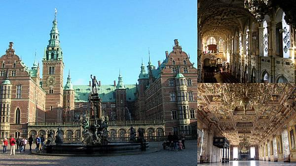 Frederiksborg Slot 從 Hillerød 前往金光閃閃的城堡