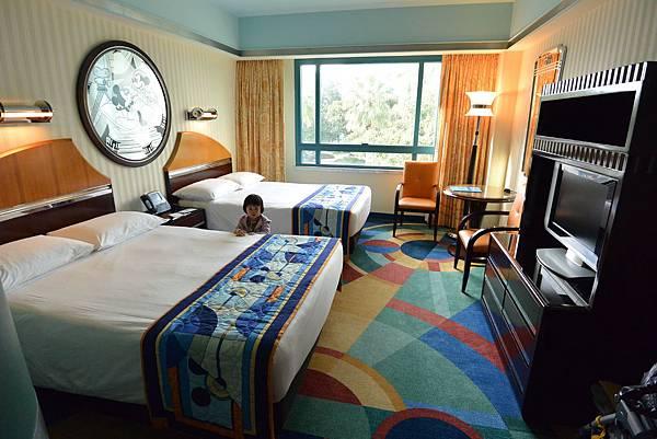 香港迪士尼好萊塢酒店:園林景觀客房 (1).JPG