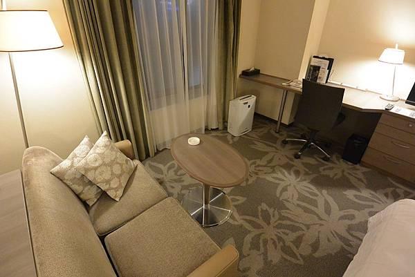 日本福岡県福岡市ホテル日航福岡:シングルルーム ラグジュアリー (10).JPG
