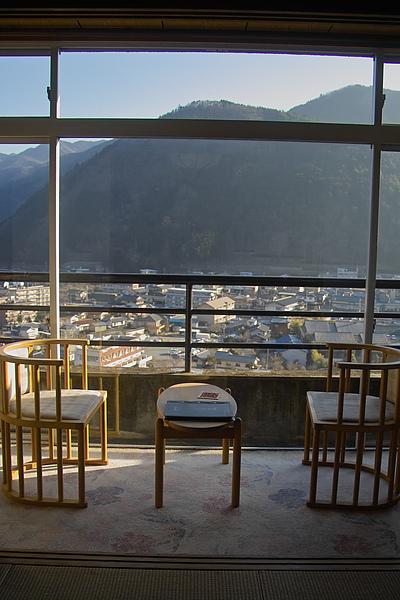 日本下呂市下呂觀光Hotel陽台景.jpg