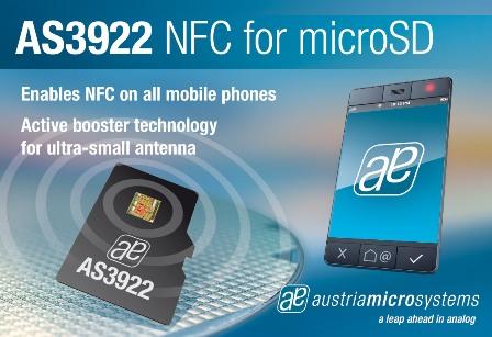 奧地利微電子推出與英飛淩聯合開發的獨立NFC microSD解決方案