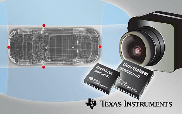 德州儀器FPD-Link III晶片組為輔助駕駛攝影提供百萬畫素影像資料介面