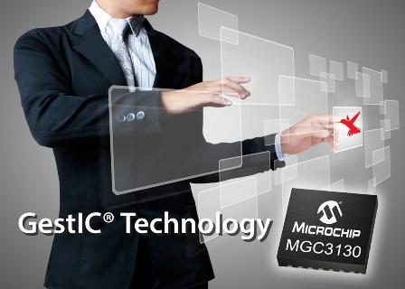 Microchip全新GestIC技術實現行動設備友善的3D手勢介面