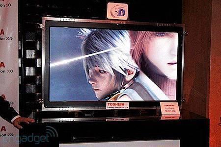 Toshiba 2011 年將推出大尺寸裸視 3D 電視