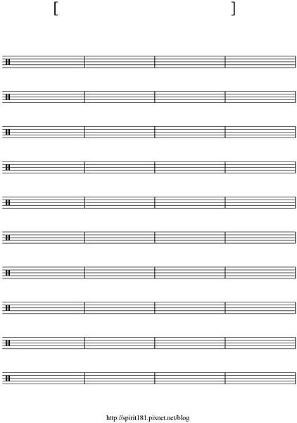 blank sheet music-40 bar