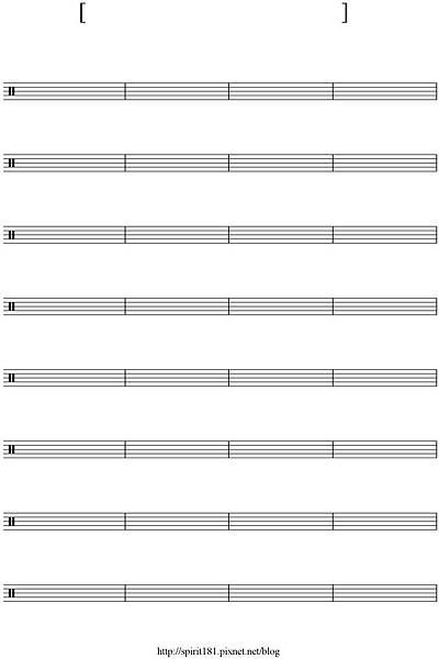 blank sheet music-32 bar