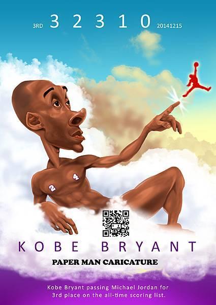 Kobe Bryant 總得分要居史上第3