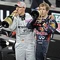 德國老少車神聯手 Michael Schumacher , Sebastian Vettel