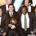 巴西球星Alves、阿根廷球星Messi、巴西傳奇球星Pele、巴西未來之星Neymar
