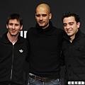 巴塞隆納三巨頭 Messi、教練Guardiola、Xavi