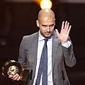 巴薩教練瓜迪奧拉(Guardiola)榮獲2011最佳教練
