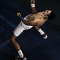 Novak Djokovic 握拳後仰高呼