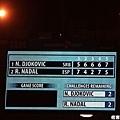 Nadal VS. Djokovic 五盤大戰最終比數