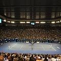 能在澳網這樣的場館裡看精彩的球賽真是人間一大享受