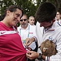 Novak Djokovic 簽名在球迷衣服上