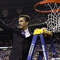 肯塔基教練John Calipari剪籃網