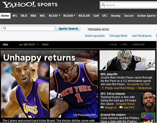 Yahoo Sports 頭條:Unhappy Returns