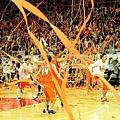 璞園拿下隊史首座總冠軍,比賽結束橘色彩帶瞬間拋下形成橘海